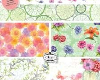 CraftEmotions - A5 Paper Stack - Botanical Summer (32 sheets)