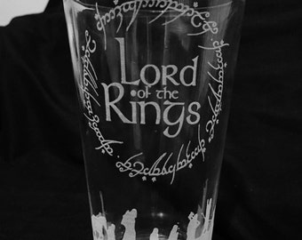 Lord of the Rings 16 oz. Glass