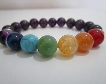 Seven chakra, Seven chakra bracelet, Chakra bracelet, Womens jewelry, Yoga, Yoga bracelet, Meditation bracelet, Gift for women, Jewelry