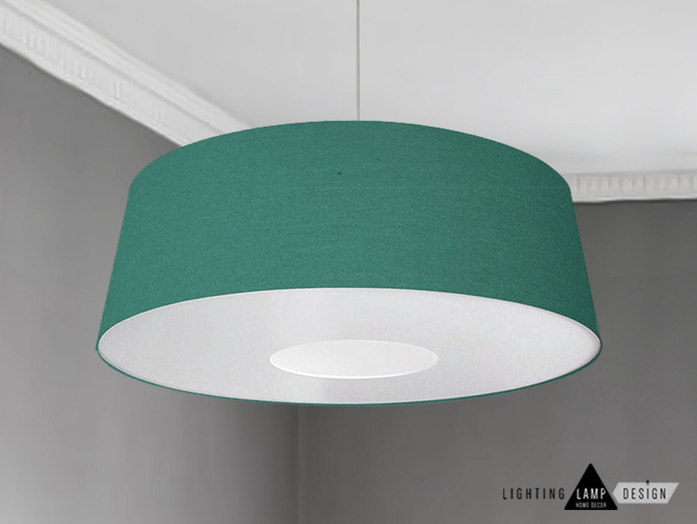 FREE SHIPPING - Ponz Emerald green Lampshade with white laminate ...
