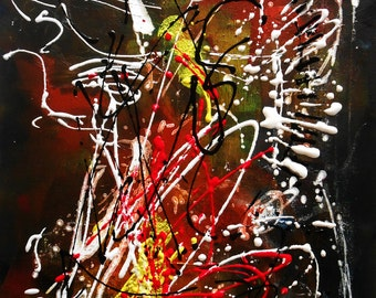 Modern painting Abstract Musicalement votre