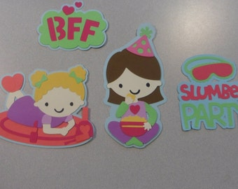 Best Friends Slumber Party Cricut Die Cuts