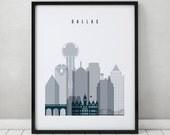Dallas print, Poster, Wall art, Texas cityscape, Dallas skyline, City poster, Typography art, Home Decor, Gift, Wall art, ArtPrintsVicky