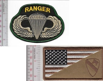 Ranger US Army  1st Air Cavalry Division & Airborne Parachutist Wings