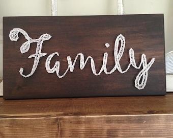 Family String Art Sign