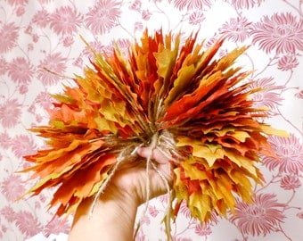 5 Fall leaf garlands, fall wedding, bridal shower, engagement, birthday, nursery, home decor
