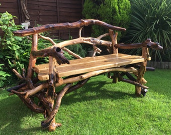 Driftwood Chair, Driftwood Garden Bench, Driftwood Seat, Wooden Chair