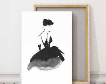 Chanel Little black dress painting