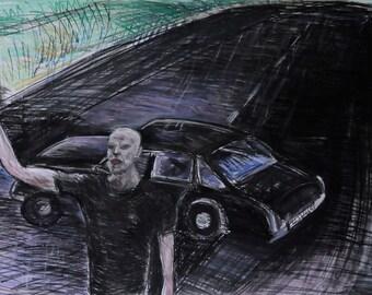 Man on the road - Luxemburg