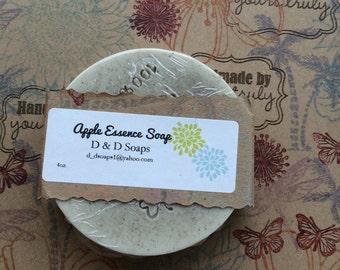 Apple Essence All Natural Glycerin Moisturizing Goats Milk Bar Soap