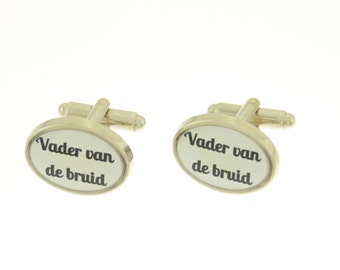 Custom made cufflinks. Unique gift for the father of the bride