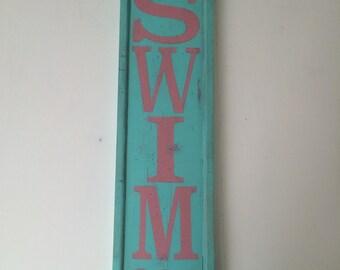 Vintage Swim Sign