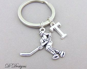 Ice Hockey KeyChain, Ice Hockey KeyRing, Sporty Key Chain, Sporty key ring, Personalised Ice Hockey Key chain, Ice Hockey Gifts