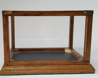 Wood frame display case - small