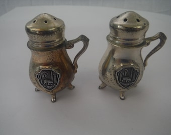 1960's California Four Footed Pewter Salt and Pepper Shakers-Collectible-Vintage-Usable