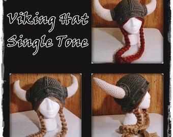 Crocheted Viking Hat w/wo braids