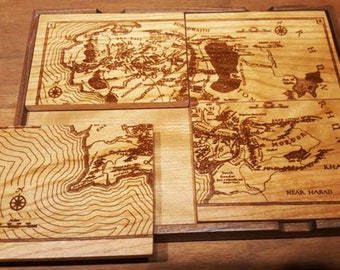 Artwork Coaster Set - Middle Earth