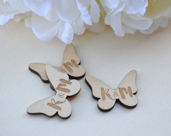 Wooden Personalised Wedding Table Sprinkles / Wedding Table Decor