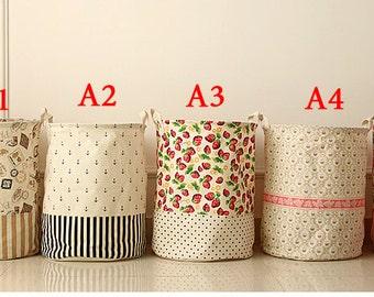 Laundry Hamper, Laundry Basket, Toy Storage, Nursery Fabric Basket, Storage  Bin,