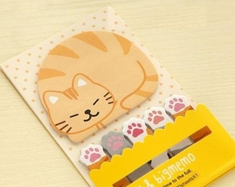 Orange Cat Sticky Notes - Cute Kawaii Post-It Notes / Stationery / Stationary / School Supplies / Stick and Big Memo / Cute Sticky Notes