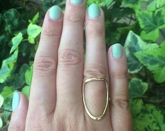 Brass Shield Ring Size 7
