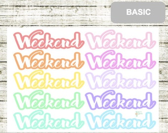 B51 Weekend Stickers, perfect for any Planner