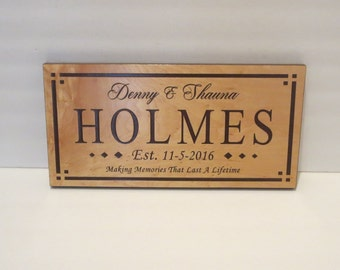 Family Name Sign Anniversary Gift Wedding Established Sign Valentines Day Gift