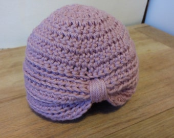 0-3 month crocheted baby turban