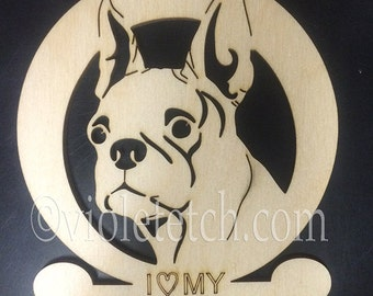 Boston Terrier-Boston Terrier Ornament-Boston Terrier Gift-Free Personalization