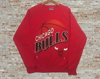 Vintage Chicago Bulls Sweatshirt Red Large