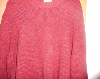 20% OFF Men's LL Bean. Sweater.Red Cranberry Pullover V Neck Size XL Tall Lambs Wool