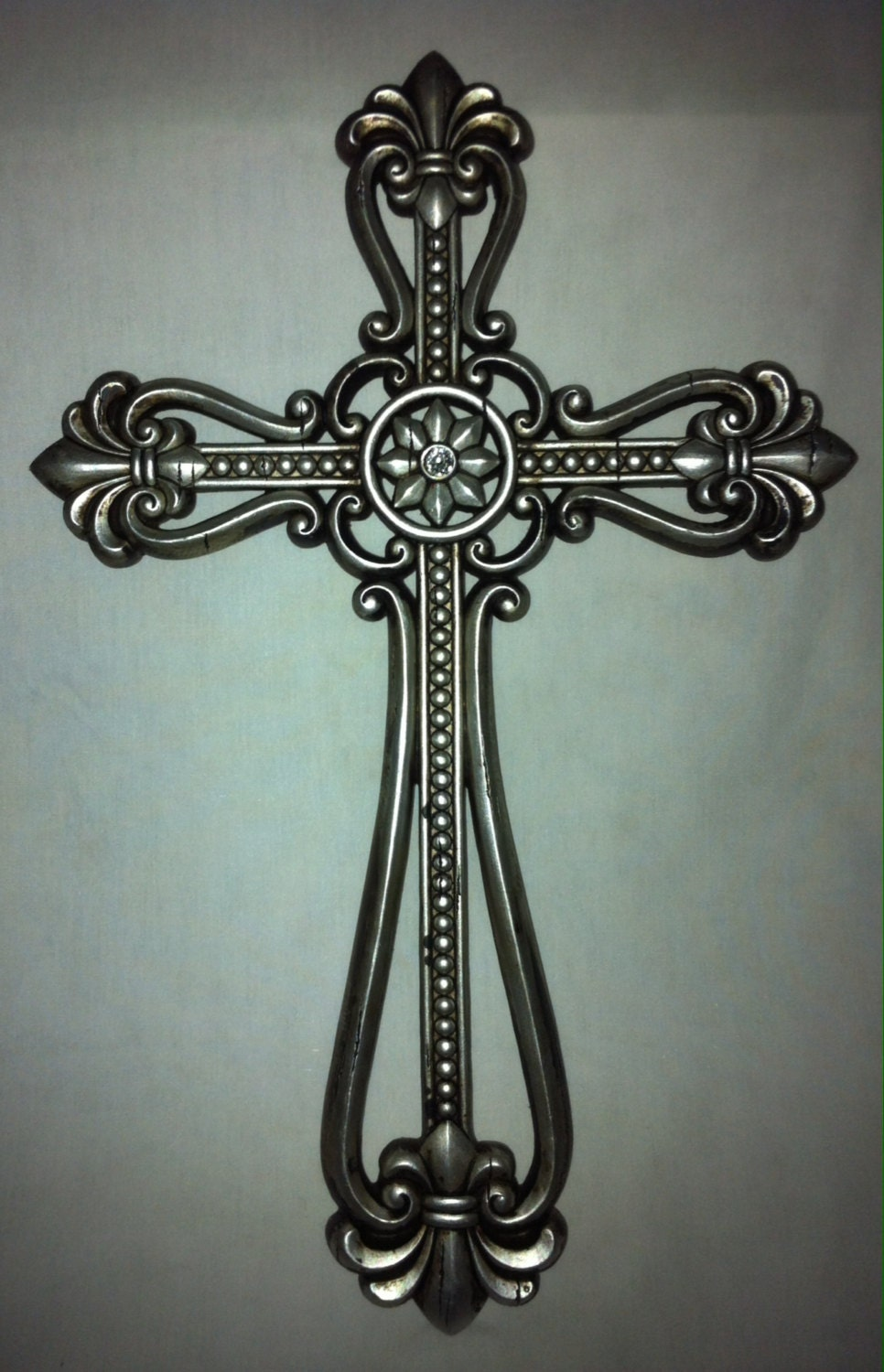 Wall Decor With Rhinestone : Cross metal wall decor w rhinestone ra