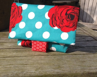 Reusable sandwich bag with roses/lunch bag
