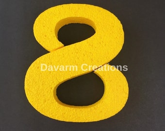 Painted number/#/6 inches #/6 inches number/Foam number/Birthday number/Party decor/Centerpiece number/Centerpiece supply/Happy birthday/DIY
