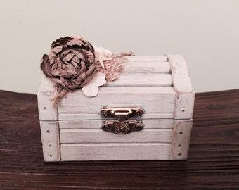 Rustic Beach Wedding Ring/Trinket Box