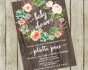 Baby Shower Invitation Printable, Baby Shower Invitation Boho, Baby shower Invitation Gender Neutral