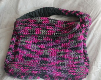 large knitted shoulder bag