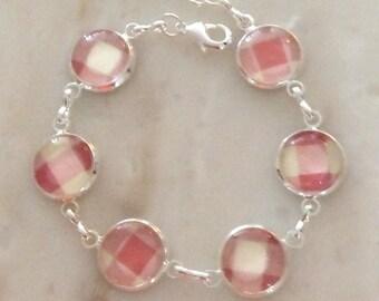 Delicate bracelet Creme & Pink