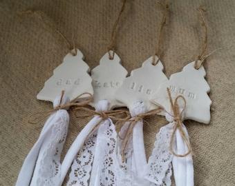 Personalized Christmas Decoration ~ Custom Christmas Ornament ~ Tree Decoration ~ Christmas Tag ~ Clay Gift Tag ~ Personalized Gift Tags