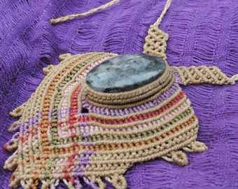 born in Mexico. hand made. macrame.