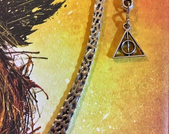 Small Silver Deathly Hallows Bookmark
