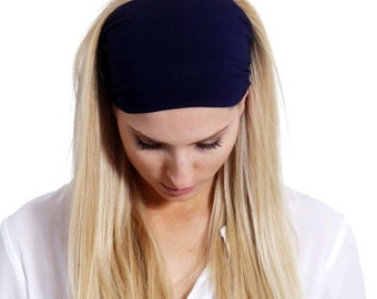Wide Head Infinity Scarf Stretchy Headband, Head Infinity Scarf, Women's Modern Headband Elegant in Boho style in Black