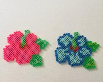 Colorful Flowers Perler Bead