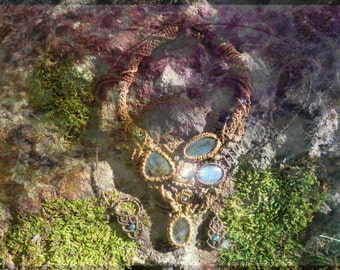 ॐ The Avatarian Labradorite Necklace of Pure Freedome ॐ Sacred Necklace of the Lost Tribe