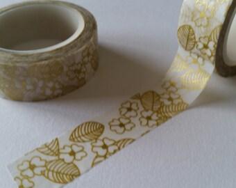 metallic gold floral Washi Tape