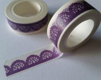 purple lace Washi Tape