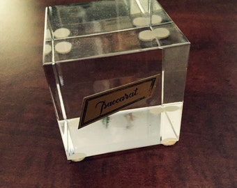 Baccarrat Cube Paper Weight