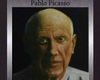 Pablo Picasso - Original Oil Portrait. Gallery Quality Fine Art. Free Shipping.