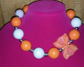 Candy corn love chunky necklace