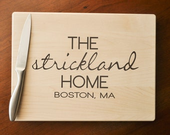 Custom Cutting Board, Personalized, Engraved Cutting Board, Personalized Wedding Gift, Housewarming Gift, Anniversary Gift, Realtor Gift